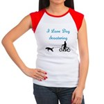 Dog Scootering Women's Cap Sleeve T-Shirt