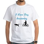 Dog Scootering White T-Shirt