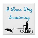 Dog Scootering Tile Coaster