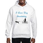 Dog Scootering Hooded Sweatshirt