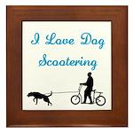 Dog Scootering Framed Tile