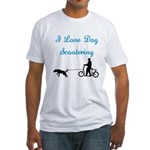 Dog Scootering Fitted T-Shirt
