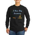 Dog Scootering Long Sleeve Dark T-Shirt