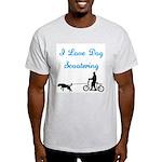 Dog Scootering Ash Grey T-Shirt