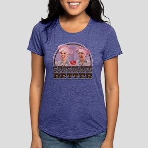 I Love Lucy: Chocolate Ma Womens Tri-blend T-Shirt