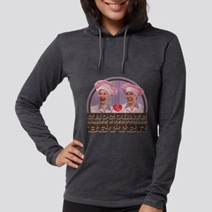 I Love Lucy: Chocolate Makes E Womens Hooded Shirt