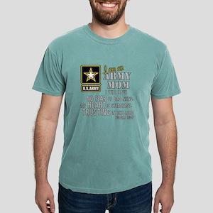 I am an Army Mom No Fear Mens Comfort Colors Shirt