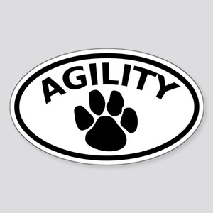 Dog Agility Paw Oval Sticker