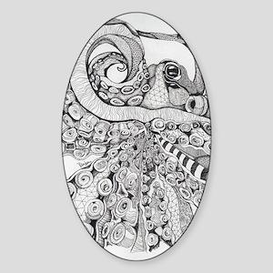 Octopus Life Sticker (Oval)