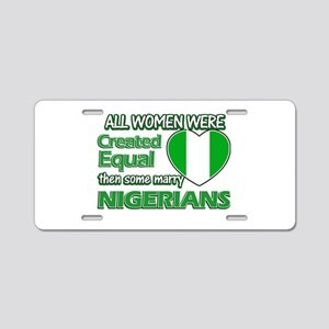 Nigerians husband designs Aluminum License Plate