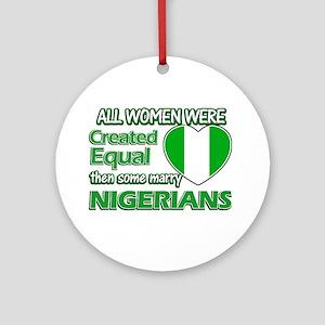 Nigerians husband designs Ornament (Round)