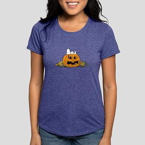 Snoopy  Jack-o-lantern Womens Tri-blend T-Shirt