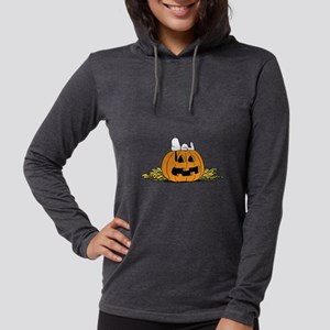 Snoopy  Jack-o-lantern Womens Hooded Shirt