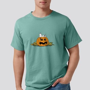 Snoopy  Jack-o-lantern Mens Comfort Colors Shirt
