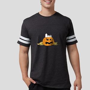 Snoopy  Jack-o-lantern Mens Football Shirt