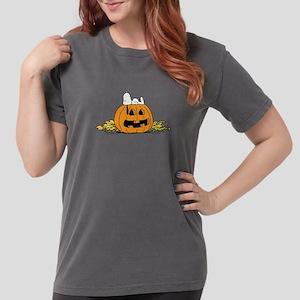 Snoopy  Jack-o-lantern Womens Comfort Colors Shirt