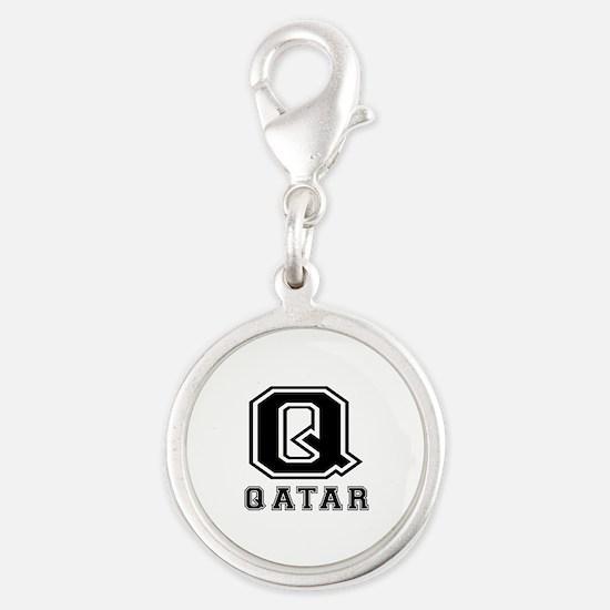 Qatar Designs Silver Round Charm