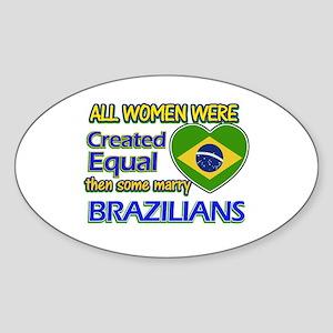 Brazilian husband designs Sticker (Oval)