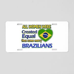 Brazilian husband designs Aluminum License Plate