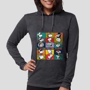 Snoopy-You Can Be Anything Womens Hooded Shirt