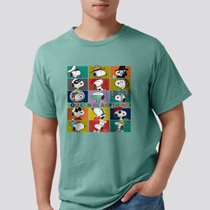 Snoopy-You Can Be Anythi Mens Comfort Colors Shirt