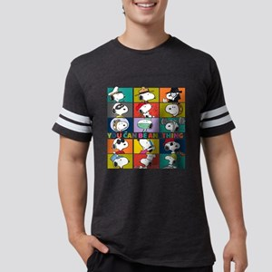 Snoopy-You Can Be Anything Mens Football Shirt