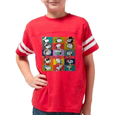 Snoopy-You Can Be Anything Youth Football Shirt