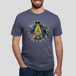 Enterprise-Patch-To-Bodly-G Mens Tri-blend T-Shirt