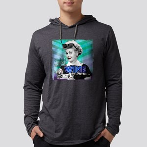 I Love Lucy: Wine Mens Hooded Shirt