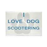 Dog Scootering Rectangle Magnet (10 pack)