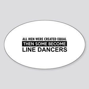 Line Dance designs Sticker (Oval)