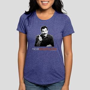 Modern Family Nice Mustac Womens Tri-blend T-Shirt
