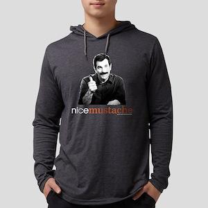 Modern Family Nice Mustache Dark Mens Hooded Shirt