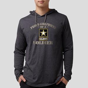 Proud U.S. Army Girlfriend Mens Hooded Shirt