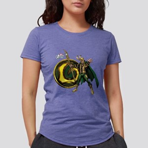 Loki Icon Womens Tri-blend T-Shirt