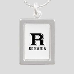 Romania Designs Silver Portrait Necklace