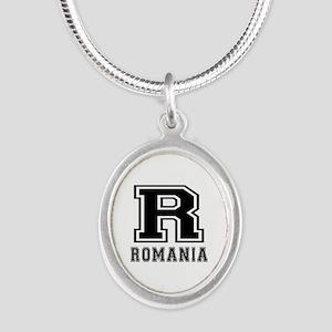 Romania Designs Silver Oval Necklace