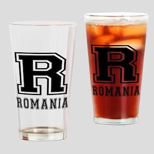 Romania Designs Drinking Glass