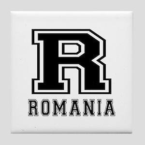 Romania Designs Tile Coaster