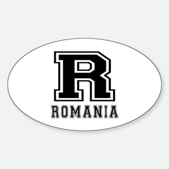 Romania Designs Sticker (Oval)