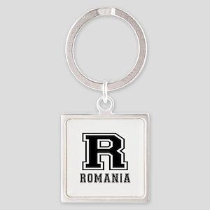 Romania Designs Square Keychain