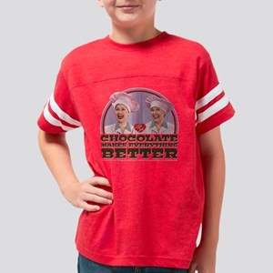 I Love Lucy: Chocolate Makes  Youth Football Shirt