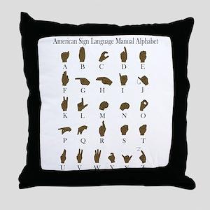 ASL Alphabet Throw Pillow