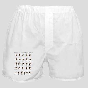 ASL Alphabet Boxer Shorts