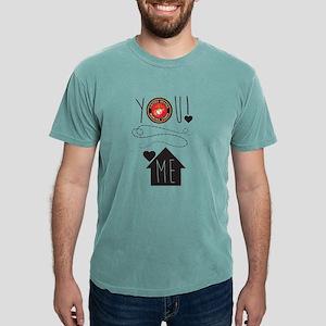 USMC You Heart Me Mens Comfort Colors Shirt