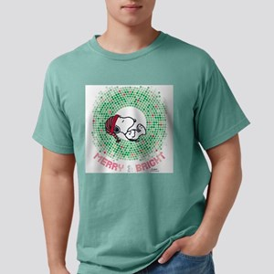 Snoopy - Merry & Bright Mens Comfort Colors Shirt
