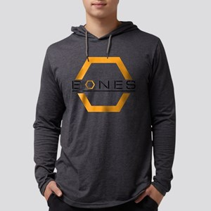 Bones Logo Light Mens Hooded Shirt