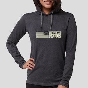 U.S. Navy: I Love My Sailor (B Womens Hooded Shirt