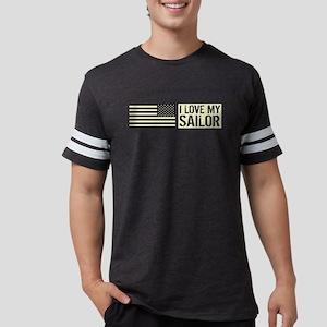 U.S. Navy: I Love My Sailor (B Mens Football Shirt