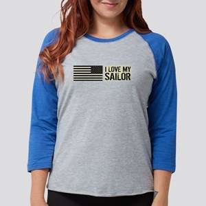 U.S. Navy: I Love My Sailor (B Womens Baseball Tee